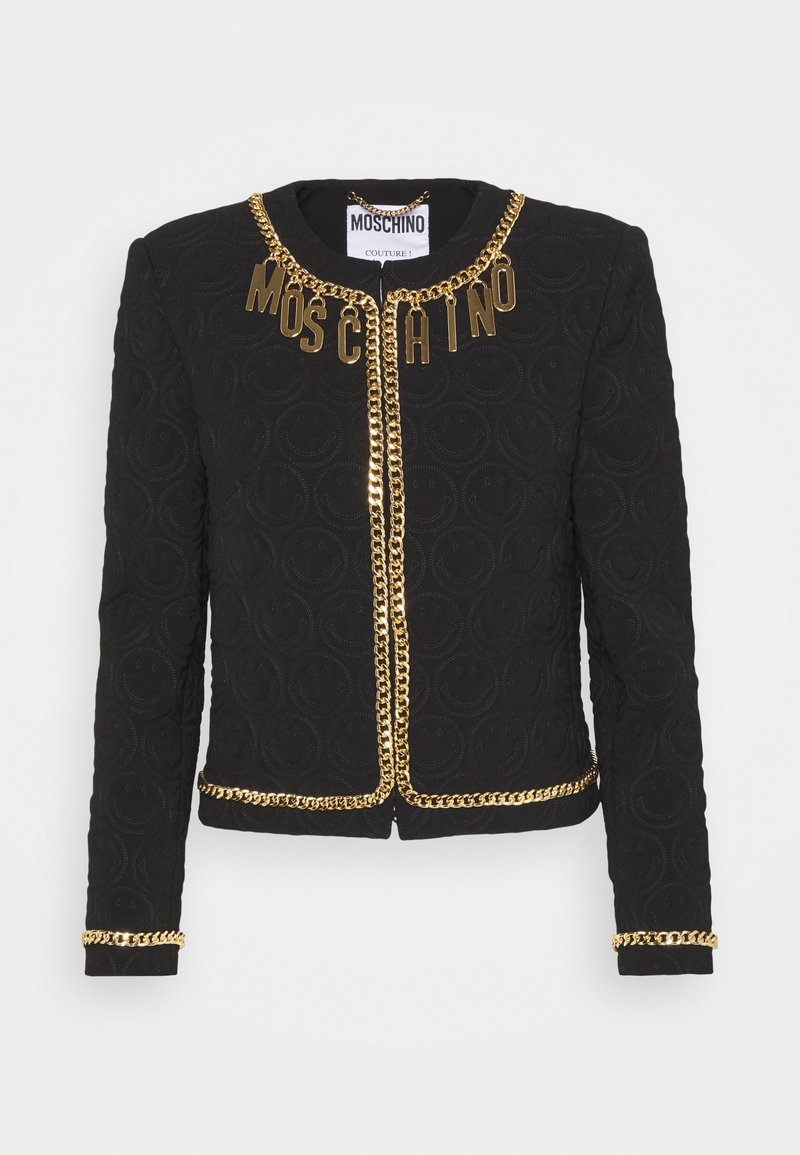 MOSCHINO - JACKET - Blazer - black/gold-coloured