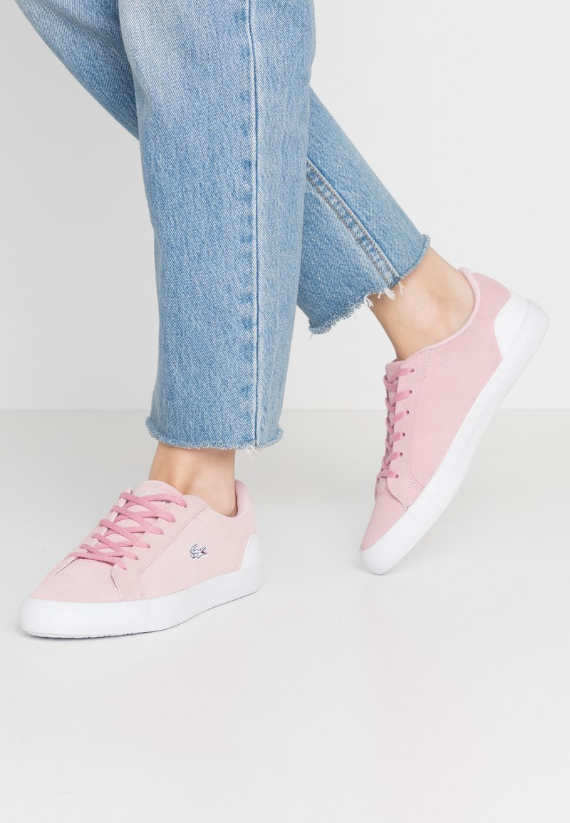 Lacoste - LEROND  - Trainers - pink/white