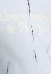 Abercrombie & Fitch - LONG LIFE FULL ZIP - Hettejakke - light blue - 5