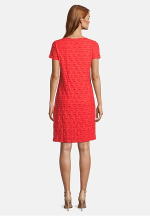 Jersey dress - poppy red