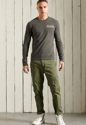 Long sleeved top - slate grey
