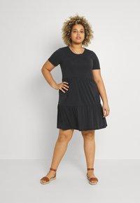 Vero Moda Curve - VMFILLI CALIA DRESS - Jersey dress - black - 0