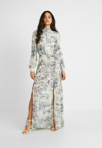 Missguided Tall - CHINA PLATE BUTTON FRONT MAXI DRESS - Cocktail dress / Party dress - blue - 0