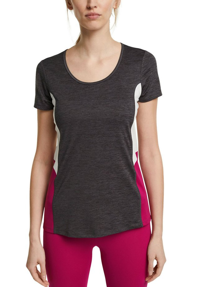 MIT E-DRY - T-shirt imprimé - anthracite