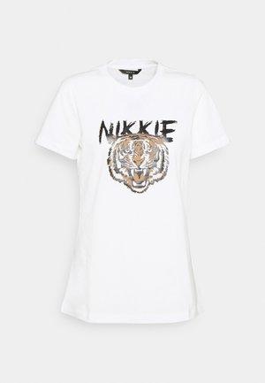 TIGER - Print T-shirt - star white