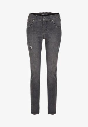MIT MODISCHEN DETAILS - Straight leg jeans - grau