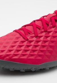 Nike Performance - TIEMPO LEGEND 8 CLUB TF - Astro turf trainers - cardinal red/black/crimson tint/white - 5