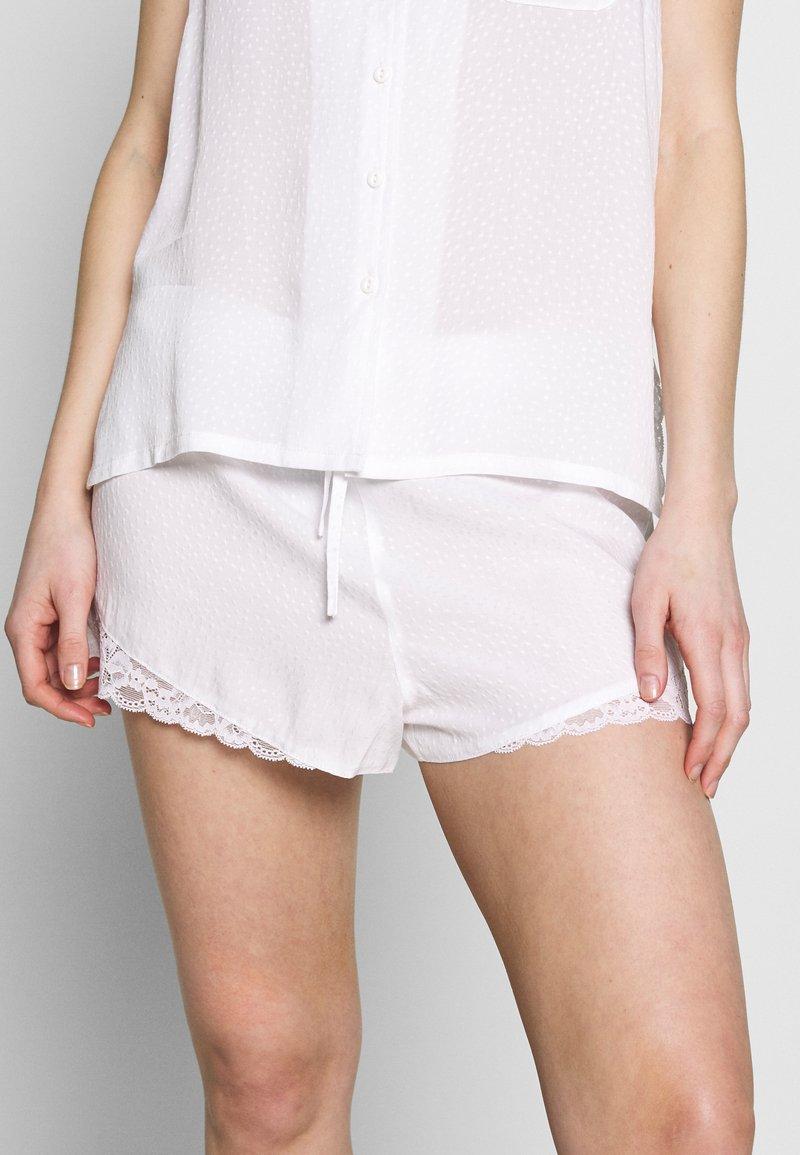 Pour Moi - SPOT MIX SHORT - Pyjama bottoms - white