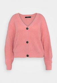 Vero Moda Curve - VMLEA V NECK CARDIGAN - Cardigan - geranium pink - 0