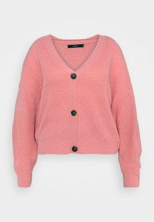 VMLEA V NECK CARDIGAN - Vest - geranium pink