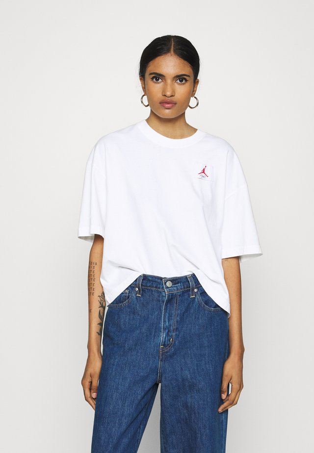 ESSENTIAL BOXY TEE - T-shirt print - white