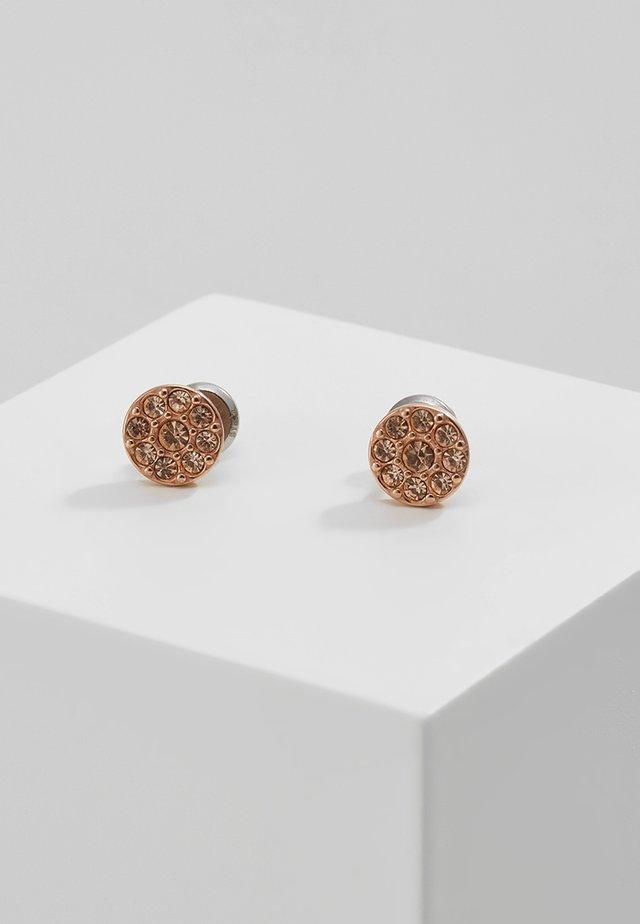 VINTAGE GLITZ - Earrings - rosegold-coloured