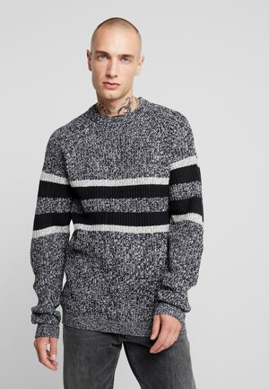 ONSCESCO STRUC STRIPE - Jumper - medium grey melange