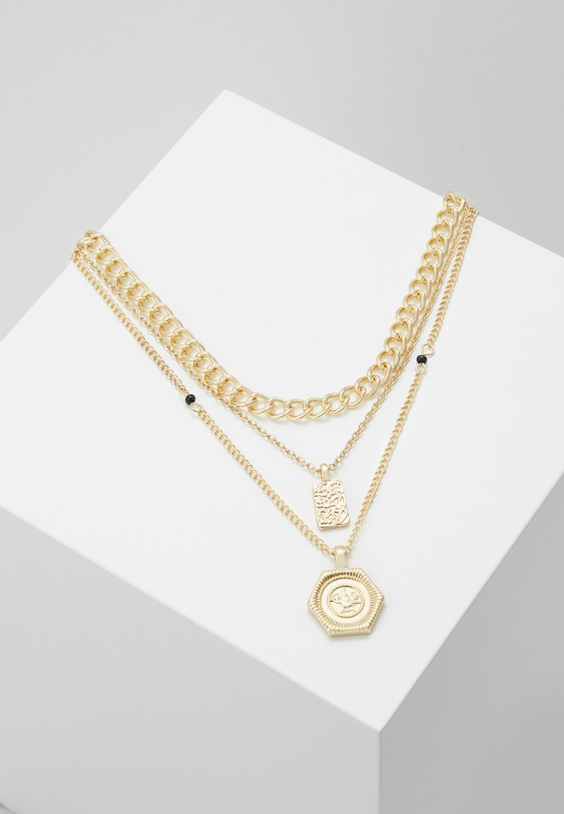 Pieces - PCOSIGGA COMBI NECKLACE - Collier - gold-coloured