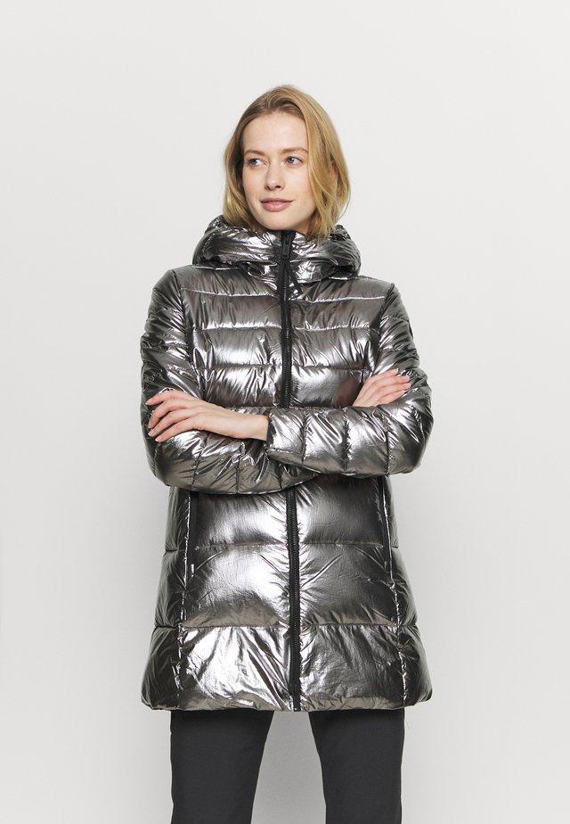 WOMAN FIX HOOD - Veste d'hiver - acciaio