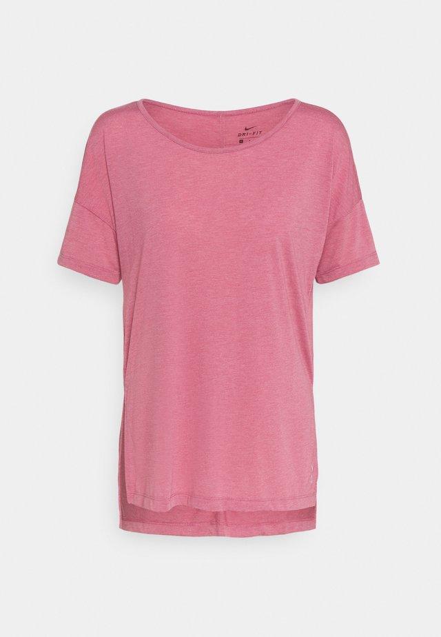 YOGA LAYER - T-Shirt basic - desert berry/arctic pink