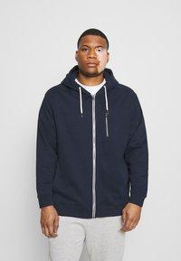 TOM TAILOR MEN PLUS - COSY BASIC JACKET - Zip-up hoodie - dark blue - 0