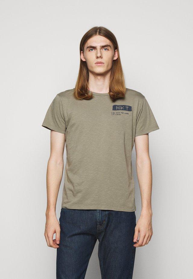 BIKER SLUB - Camiseta estampada - sage