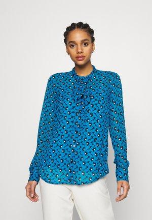 FLORAL - Button-down blouse - blue