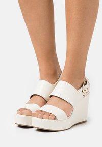 Guess - NOLITA - Platform sandals - cream - 0