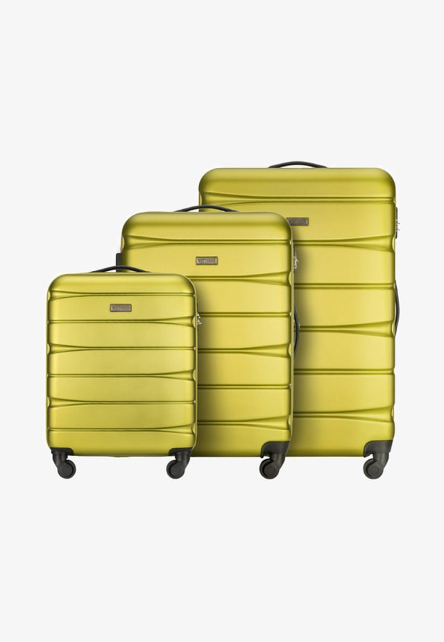 3 SET - Luggage set - green