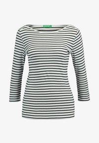 Benetton - STRIPE BOAT NECK TEE - Long sleeved top - white/black - 3