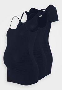 Anna Field MAMA - SET - Print T-shirt - dark blue - 0