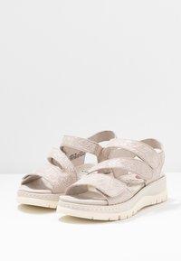 Jana - Platform sandals - pepper/light gold - 4