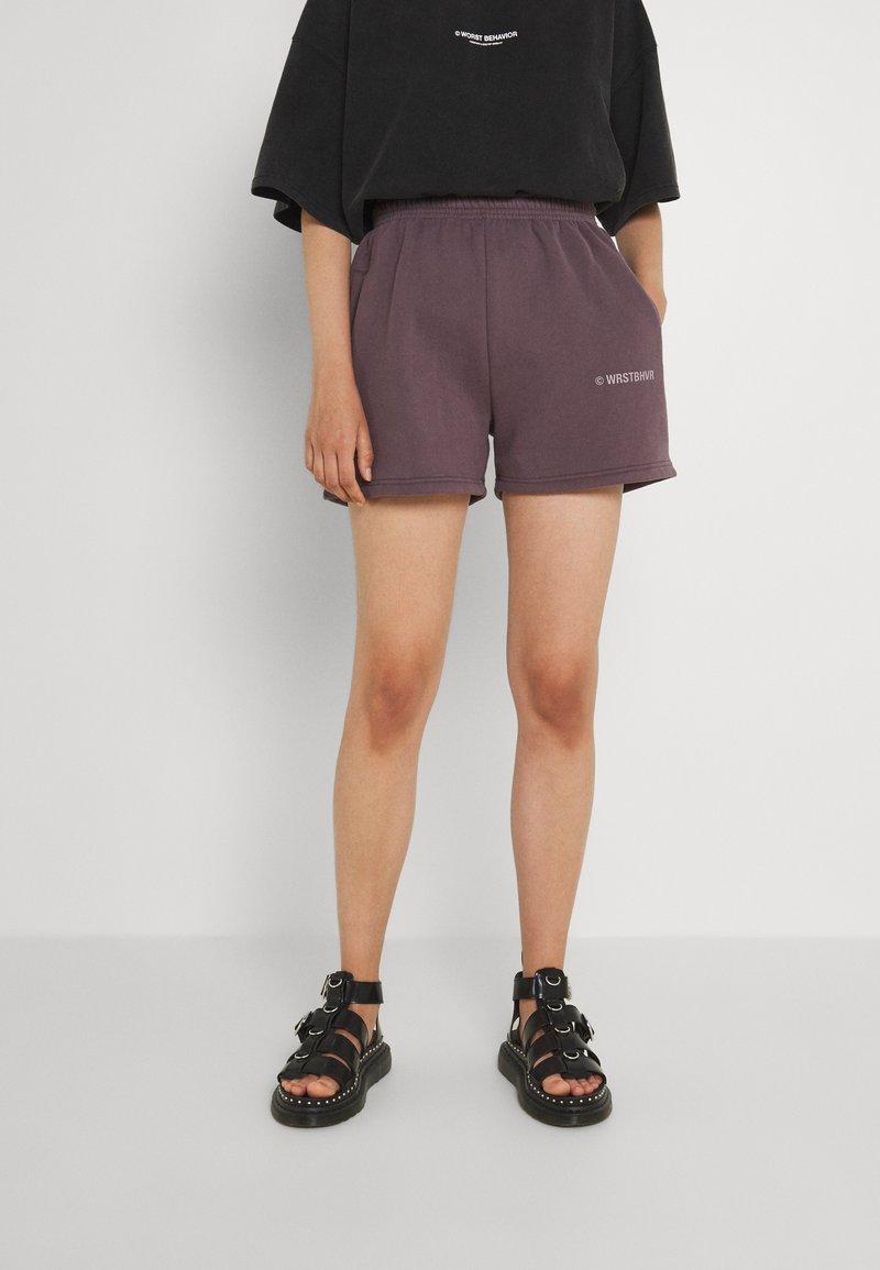 WRSTBHVR - JUNE WOMEN - Shorts - plum grey