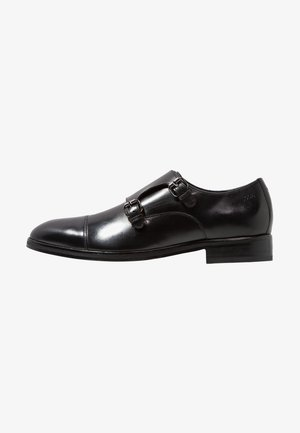 KLEITOS MONK - Smart slip-ons - black