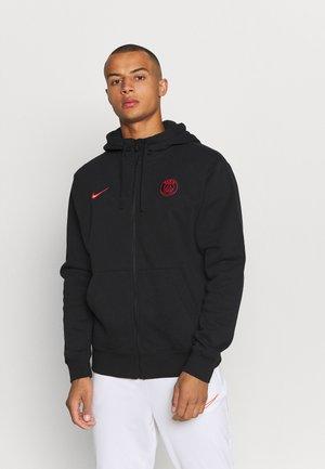 PARIS ST. GERMAIN CLUB HOODIE CL - Klubu apģērbs - black/siren red