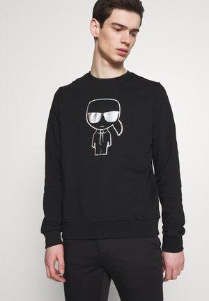 RAINBOW HOLOGRAPHIC PRINT  - Sweatshirt - black