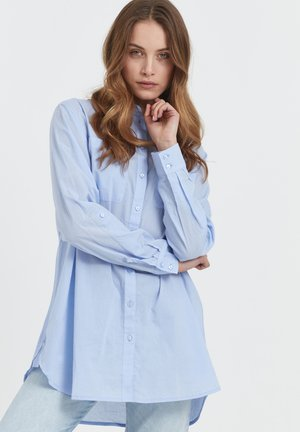 SAVANNAH - Button-down blouse - brunnera blue
