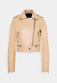 YOKO - Leather jacket - light beige