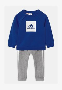 adidas Performance - LOGO SET UNISEX - Tracksuit - white/team royal blue/medium grey heather - 0