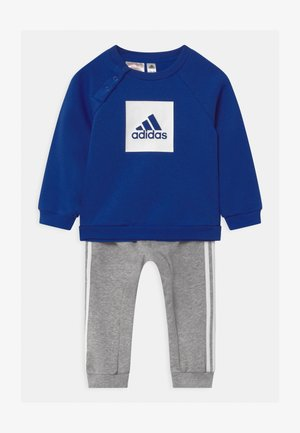 LOGO SET UNISEX - Tracksuit - white/team royal blue/medium grey heather