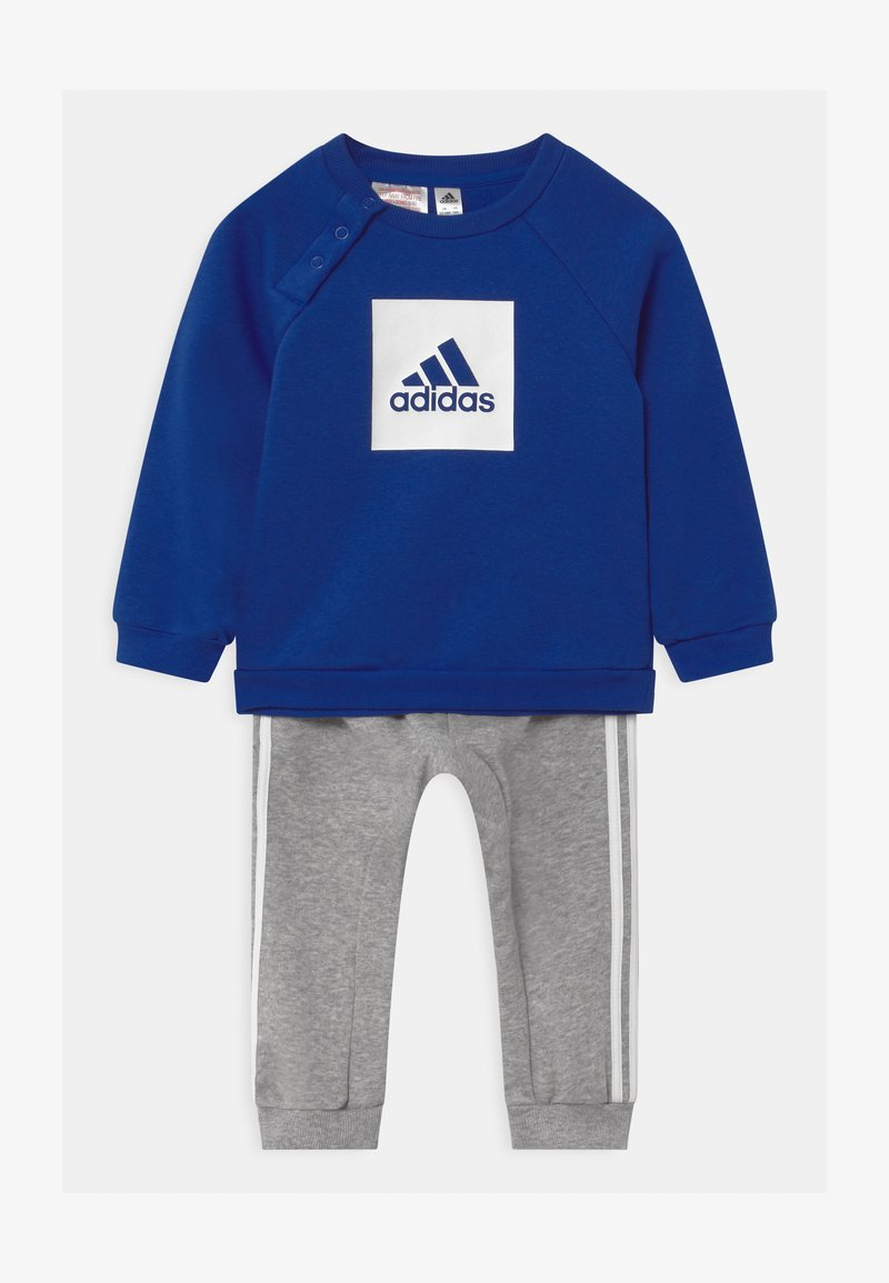adidas Performance - LOGO SET UNISEX - Tracksuit - white/team royal blue/medium grey heather
