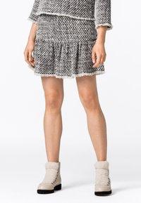 HALLHUBER - MIT VOLANT - Mini skirt - multicolor - 0