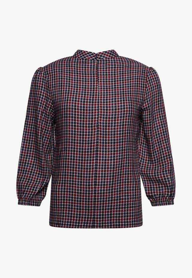 Bluzka - red navy check