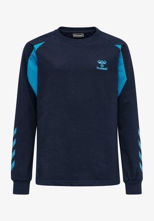 Sweatshirt - black iris atomic blue