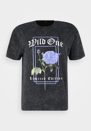 FLORAL FESTIVAL - T-shirt print - charcoal