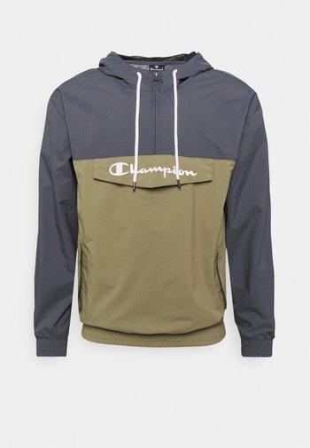 COLOR BLOCK - Training jacket - grey/khaki