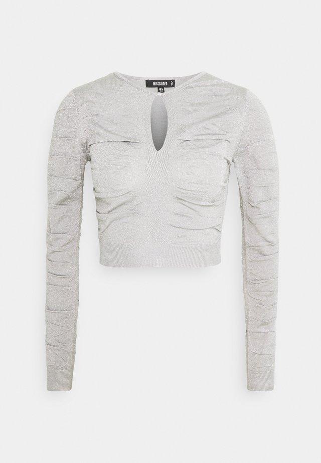 KEYHOLE TOP - Maglione - silver