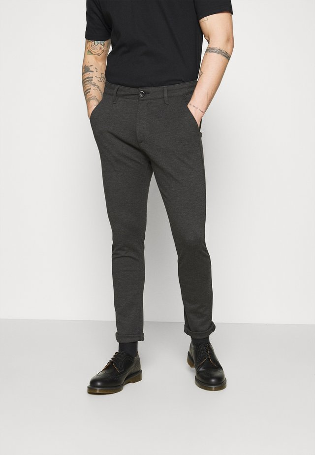 PONTE ROMA PLAIN - Trousers - dark grey melange