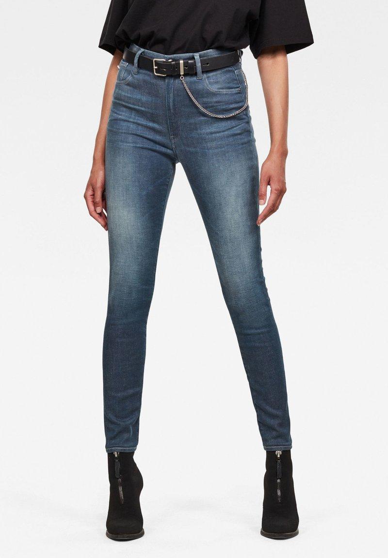 G-Star - KAFEY ULTRA HIGH SKINNY  - Jeans Skinny Fit - worn in gravel blue