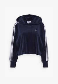adidas Originals - ADICOLOR SPORTS INSPIRED LOOSE HOODED - Mikina s kapucí - collegiate navy/white - 4