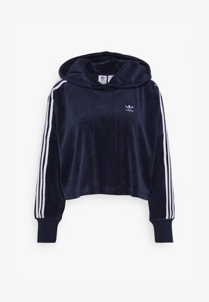 ADICOLOR SPORTS INSPIRED LOOSE HOODED - Luvtröja - collegiate navy/white