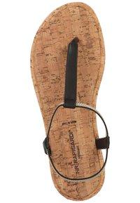 Rapisardi - ZEHENSTEG - T-bar sandals - nero s056 - 5