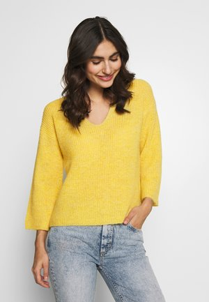 BLENDA PU - Jumper - yellow melange