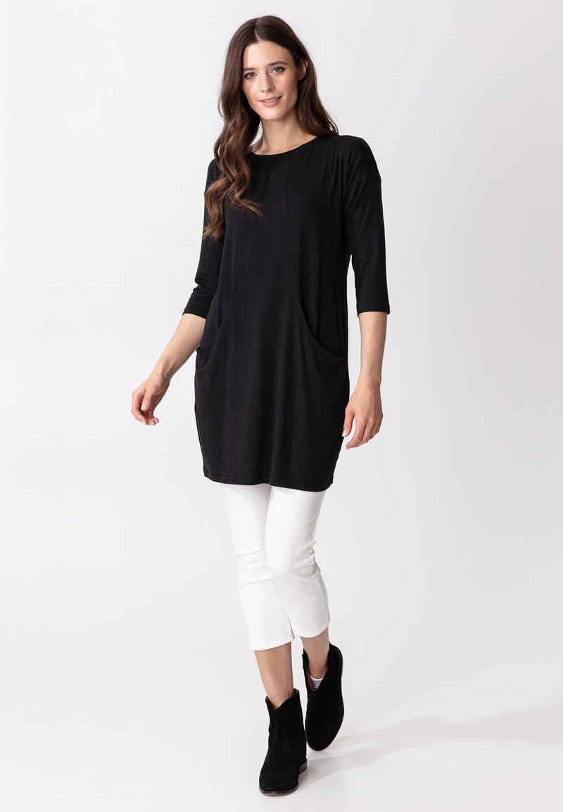 Indiska - LINDEN - Jersey dress - dkgrey